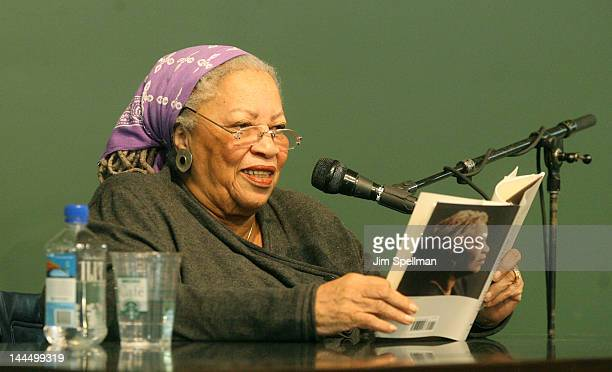 "Toni Morrison promotes ""Home"" at Barnes & Noble Union Square on May 14, 2012 in New York City."