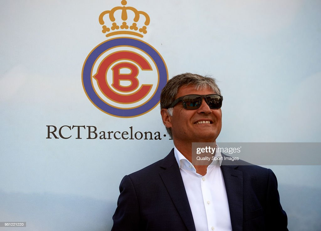 Toni Nadal attends during day three of the ATP Barcelona Open Banc Sabadell at the Real Club de Tenis Barcelona on April 25, 2018 in Barcelona, Spain.