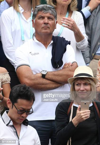 Toni Nadal during the men's final on Day 15 of the 2018 French Open at Roland Garros stadium on June 10 2018 in Paris France