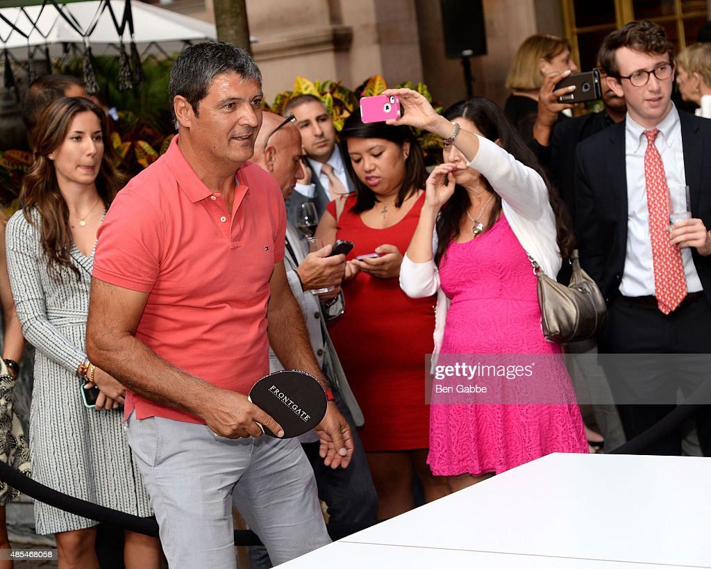 Toni Nadal joins The New York Palace for a Courtyard Cocktail Celebration at The New York Palace Hotel on August 27, 2015 in New York City.