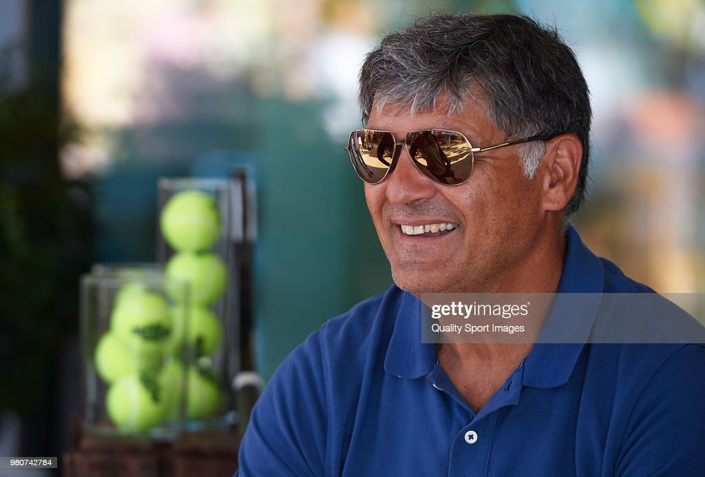Toni Nadal, uncle of Rafael Nadal and his former coach attends day fourth of the Mallorca Open at Country Club Santa Ponsa on June 21, 2018 in Mallorca, Spain.