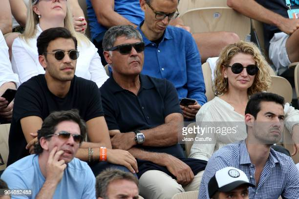 Toni Nadal uncle of Rafael Nadal and his former coach attends Rafa's match during Day Five of the 2018 French Open at Roland Garros on May 31 2018 in...