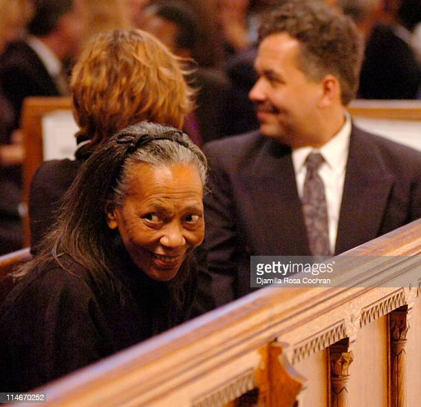 Toni Parks and Alain Brouillaud at Riverside Church during the funeral service for Photographer Gordon Parks on March 14 2006 in New York City