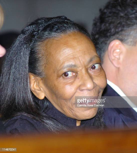 Toni Parks at Riverside Church during the funeral service for Photographer Gordon Parks on March 14 2006 in New York City