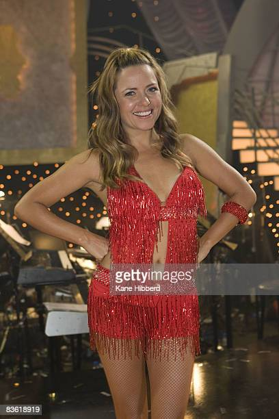 Toni Pearen arrives for the grand final event for Dancing With The Stars 2008 at the Channel Seven studios on November 8 2008 in Melbourne Australia