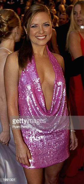 Toni Pearen of 'Australia's Funniest Home Videos' attends the Australian TV Week Logie Awards May 11 2003 in Melbourne Australia