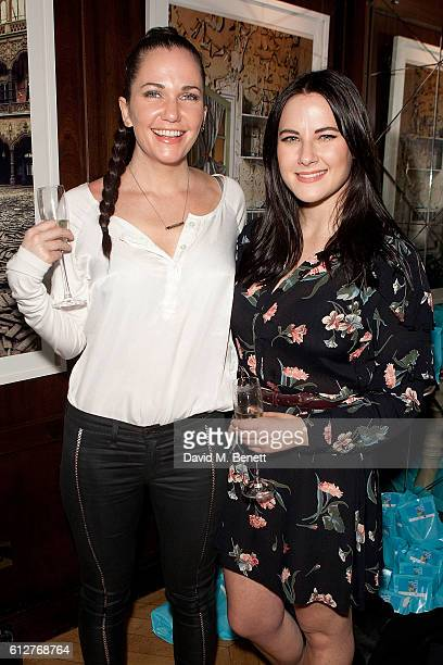 Toni Phillips and Kat Shoob attend the launch of new book 'The Mice Who Sing For Sex And Other Weird Tales From The World Of Science' by Lliana Bird...
