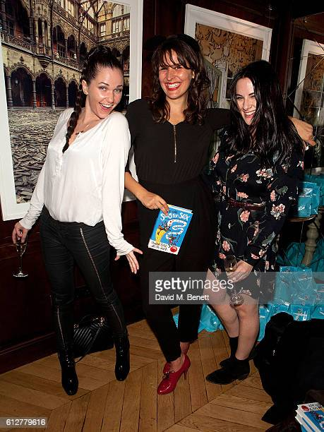 Toni Phillips Lliana Bird and Kat Shoob attend the launch of new book 'The Mice Who Sing For Sex And Other Weird Tales From The World Of Science' by...