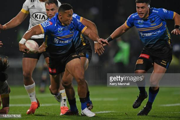 Toni Pulu of the Western Force in action during the round three Super Rugby Trans-Tasman match between the Hurricanes and the Western Force at McLean...