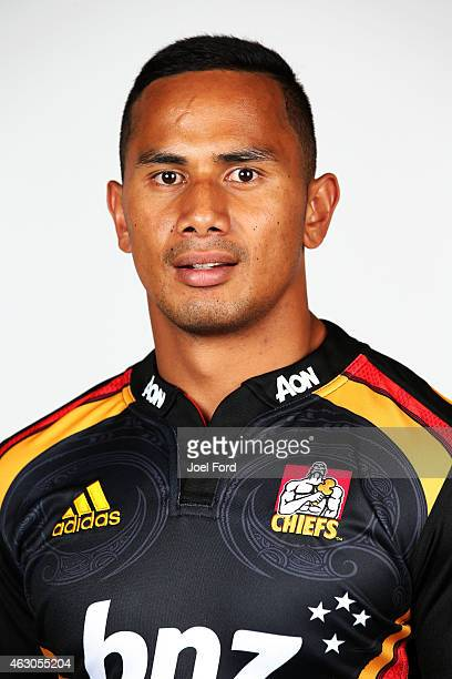 Toni Pulu poses during the Chiefs 2015 Super Rugby season headshots session on February 9, 2015 in Hamilton, New Zealand.