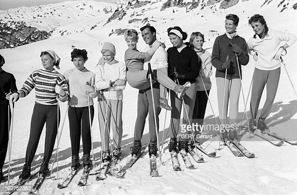 Toni Sailer Austrian Alpine Skier Dans une station de ski en février 1959 le skieur alpin autrichien champion du monde à Bad GasteinToni SAILER en...