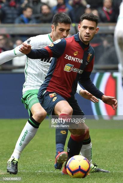 Toni Sanabria of Genoa CFC in action during the Serie A match between Genoa CFC and US Sassuolo at Stadio Luigi Ferraris on February 3 2019 in Genoa...