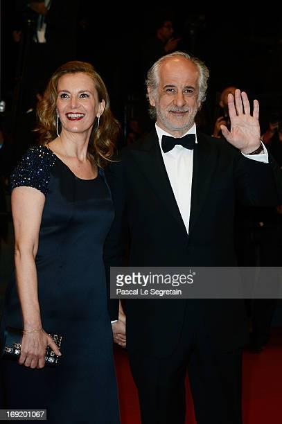 Toni Servillo and Manuela Lamanna attend the 'La Grande Bellezza' premiere during The 66th Annual Cannes Film Festival at Theatre Lumiere on May 21,...