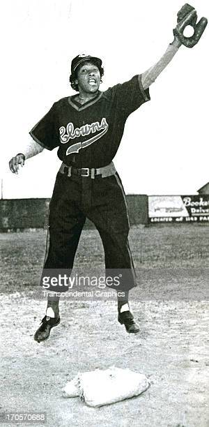 Toni Stone shortstop for the Indianapolis Clowns of the National Negro Leagues works out in a photograph around 1950 in Indianapolis Indiana