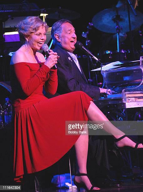 Toni Tennille and Neil Sedaka perform at the Neil Sedaka Celebrates 50 Years of Hits at Avery Fisher Hall on October 26, 2007 in New York City.