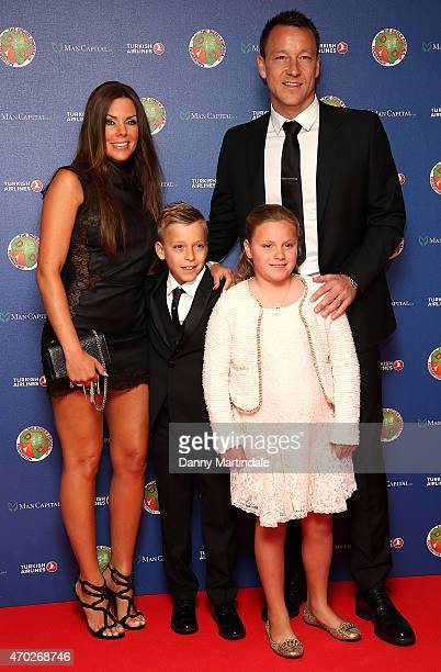 Toni Terry Chelsea captain John Terry and his children Georgie John and Summer Rose attends the Didier Drogba foundation charity ball at The...