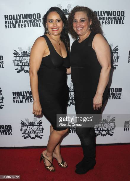 Toni Torres and Judy Cortes attend the 17th Annual Hollywood Reel Independent Film Festival Award Ceremony Red Carpet Event held at Regal Cinemas LA...
