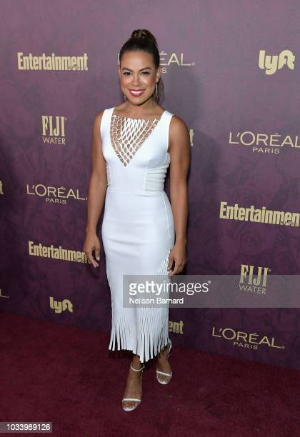 Toni Trucks attends the 2018 PreEmmy Party hosted by Entertainment Weekly and L'Oreal Paris at Sunset Tower on September 15 2018 in Los Angeles...
