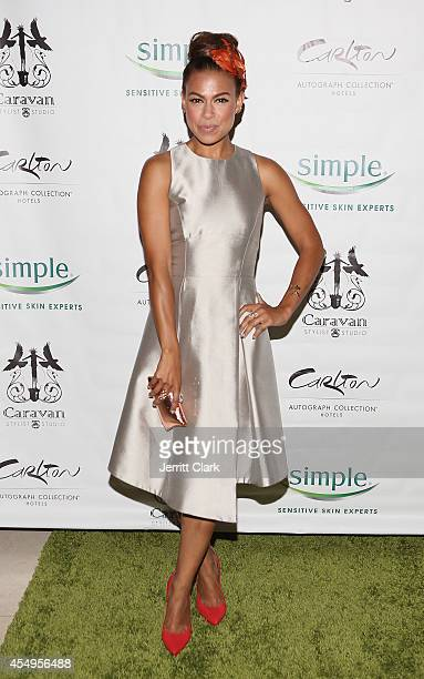 Toni Trucks attends the Simple Skincare Caravan Stylist Studio Fashion Week Event on September 7 2014 in New York City
