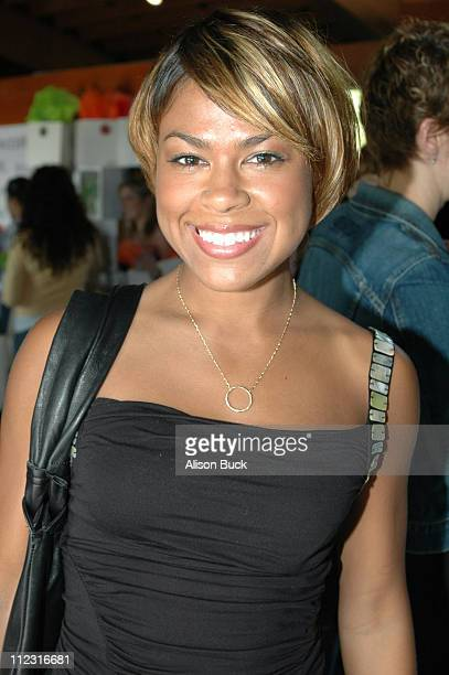 Toni Trucks wearing Page Sargisson necklace during Golden Globes Style Lounge Presented by Kari Feinstein PR Day 1 in Los Angeles California United...
