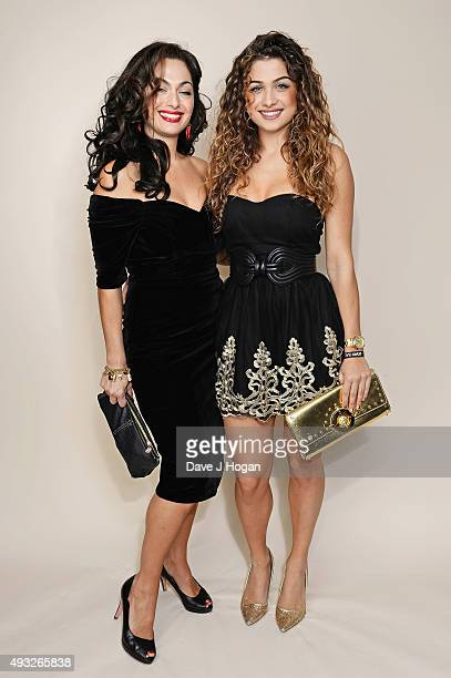 Tonia Buxton and Antigoni Buxton attend the Amy Winehouse Foundation Gala at The Savoy Hotel on October 15 2015 in London England