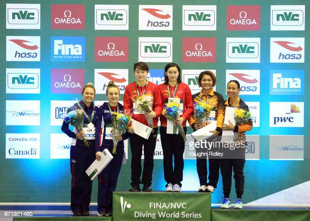 Tonia Couch and Lois Toulson of Great Britain win Bronze Yajie Si and Qian Ren of China win Gold and Nur Dhabitah Binti Sabri and Pandelela Pamg of...