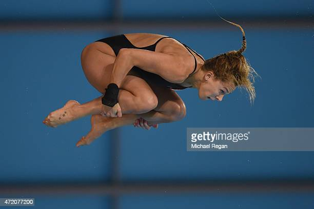 Tonia Couch of Great Britain competes in the Women's 10m final during day 3 of the FINA/NVC Diving World Series at Aquatics Centre on May 3 2015 in...