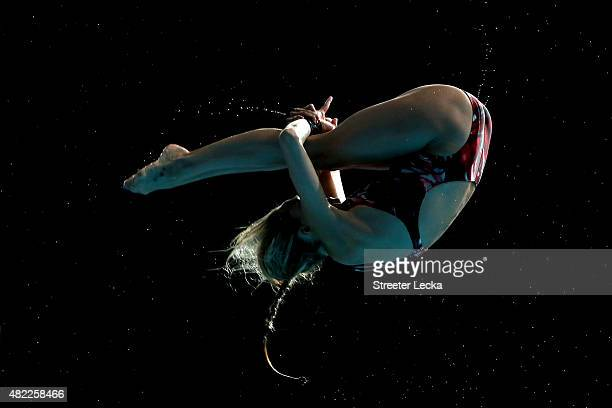 Tonia Couch of Great Britain competes in the Women's 10m Platform Diving Semifinals on day five of the 16th FINA World Championships at the Aquatics...