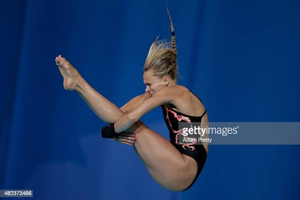 Tonia Couch of Great Britain competes in the Women's 10m Platform Diving Final on day six of the 16th FINA World Championships at the Aquatics Palace...