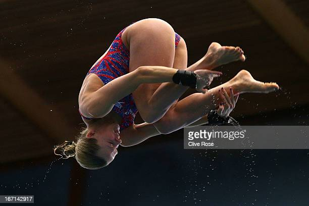 Tonia Couch of Great Britain in action during the Women's 10m Platform Final on day three of the FINA/Midea Diving World Series 2013 at the Royal...