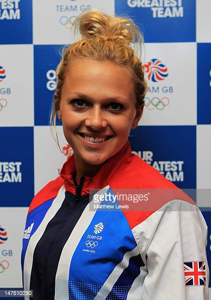 Tonia Couch of Team GB pictured during the Team GB kitting out event at Loughborough University on July 1 2012 in Loughborough England