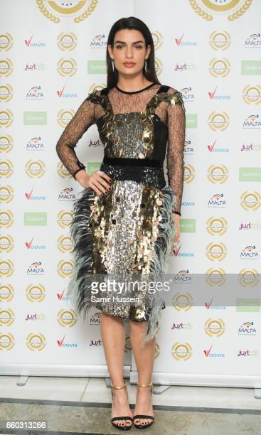 Tonia Sotiropoulou attends the National Film Awards on March 29 2017 in London United Kingdom