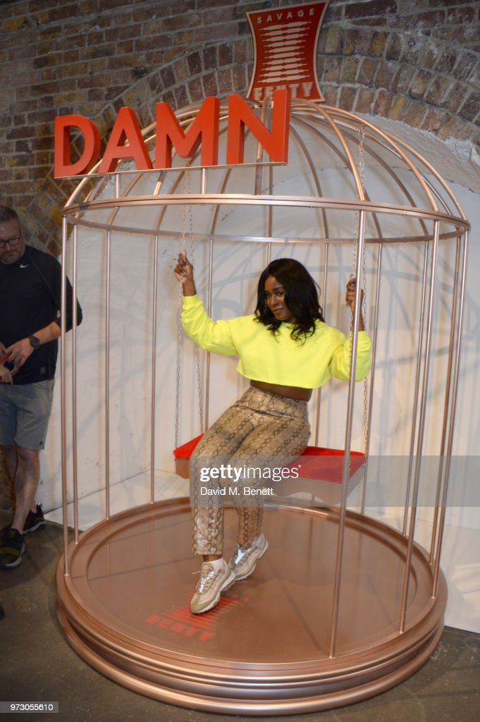 Toni-Blaze Ibekwe attends the Savage X Fenty London Pop Up Shop at Shoreditch Studios on June 13, 2018 in London, England.