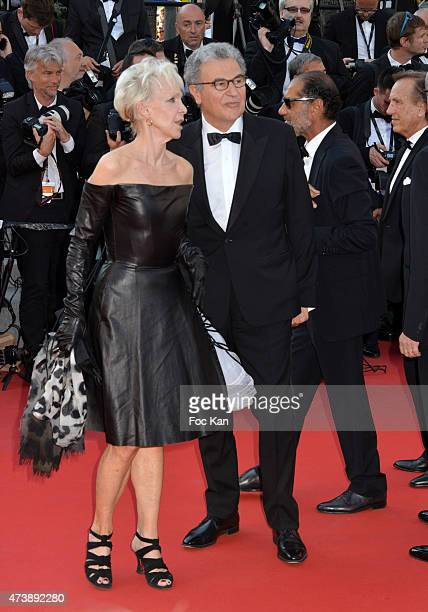 Tonie Marshall and Costa Gavras attend the 'Carol' Premiere during the 68th annual Cannes Film Festival on May 17 2015 in Cannes France
