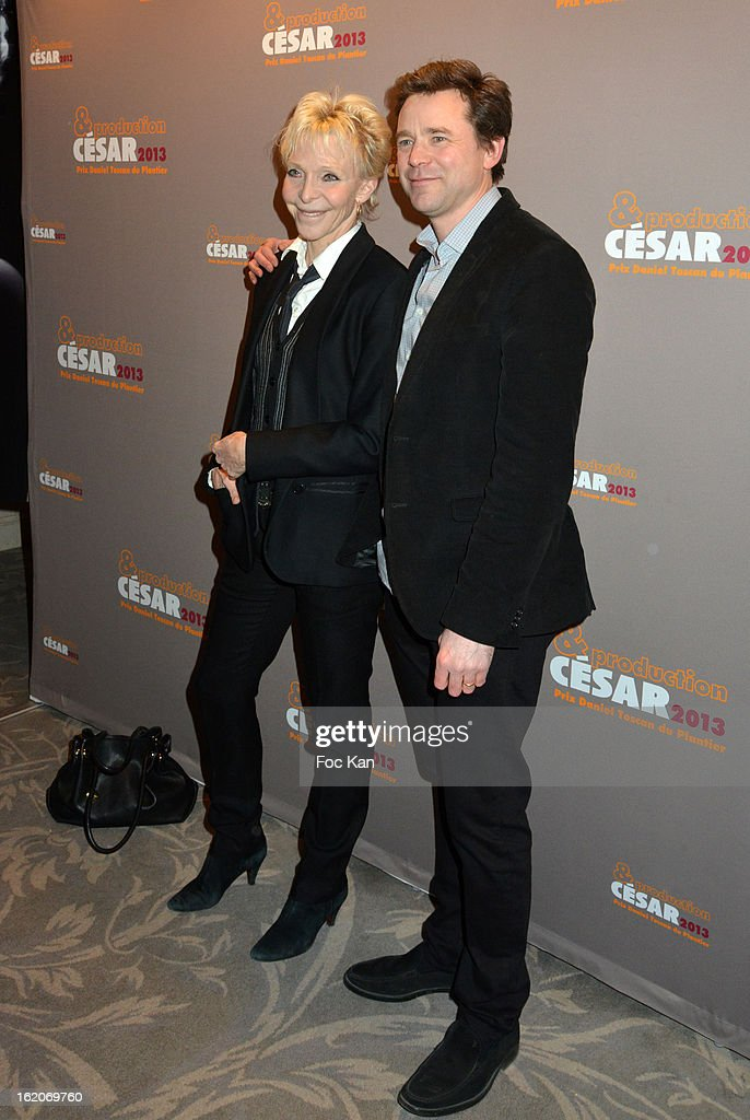 Tonie Marshall and Guillaume de Tonquedec attend the Producer's Dinner - Cesar Film Awards 2013 at Georges V on February 18, 2013 in Paris, France.
