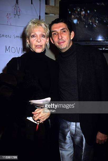 Tonie Marshall and Michel Klein during Paris Fashion Week Ready To Wear Fall/Winter 2005 Michel Klein Show at Carrousel Du Louvre in Paris France