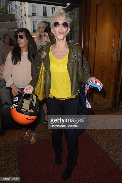 Tonie Marshall attends the Jean Paul Gaultier show as part of the Paris Fashion Week Womenswear Spring/Summer 2015 on September 27 2014 in Paris...