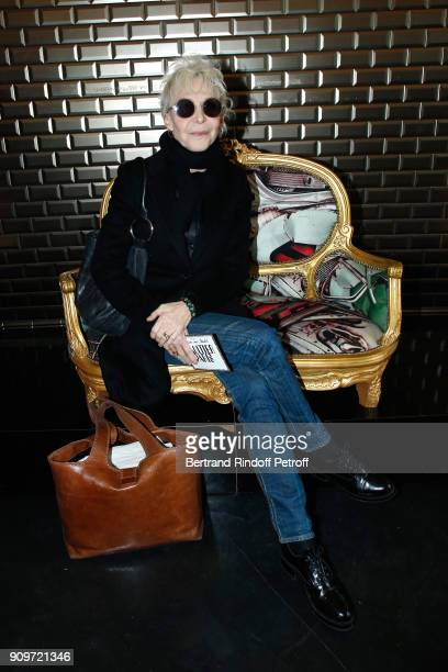 Tonie Marshall attends the JeanPaul Gaultier Haute Couture Spring Summer 2018 show as part of Paris Fashion Week on January 24 2018 in Paris France