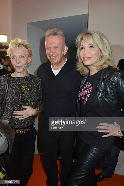 Tonie Marshall Jean Paul Gaultier and Amanda Lear attend the JeanPaul Gaultier Spring/Summer 2013 HauteCouture show as part of Paris Fashion Week at...