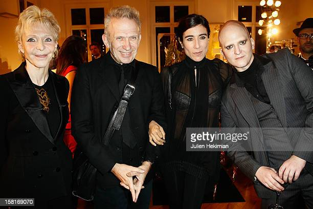 Tonie Marshall JeanPaul Gaultier Bianca Li and Ali Mahdavi attend the 17th Edition Of 'Les Sapins de Noel des Createurs' at Hotel Salomon de...