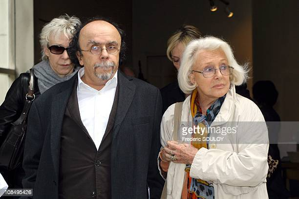 Tonie Marshall,Jean Michel Ribes and Micheline Presle in Paris,France on May 30,2006.