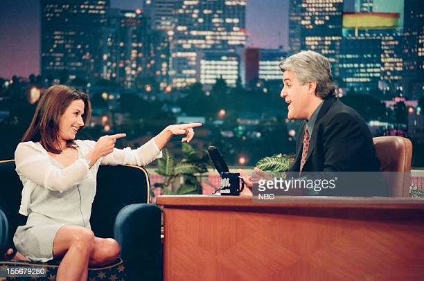 Tonight Show with Jay Leno Episode 1440 Pictured Actress Brooke Langton during an interview with host Jay Leno on August 21 1998