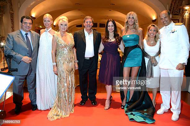 Tonino Boccadamo Valeria Mazza Ivana Trump Father Rick Frechette Madeleine Stowe Tiziana Rocca Maria Vittoria Rava and Roberto Camerini attend the...
