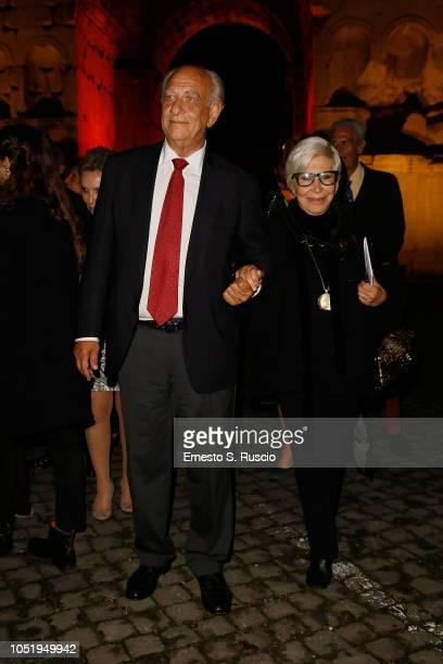 Tonino Tedesco and Anna Fendi attend Fondazione Alda Fendi Esperimenti Jean Nouvel Rhinoceros on October 11 2018 in Rome Italy