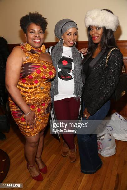 M Tonita Austin Dawne Marie Grannum and Michelle Ester attend NYC Book Launch of TONI'S ROOM By M Tonita Austin With A Donation To The Lung Cancer...