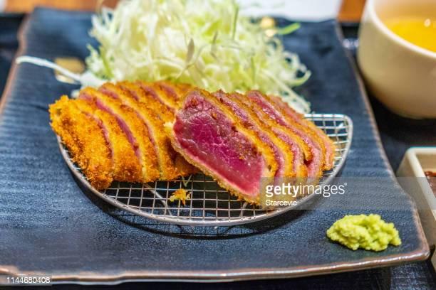 tonkatsu - japanese food - tonkatsu imagens e fotografias de stock