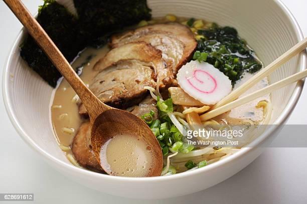 WASHINGTON DC Tonkotsu Ramen with Chashu Pork at KanjiKana a Japanese restaurant in Washington DC