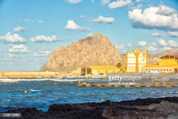 tonnara of bonagia, trapani province, sicily, italy, europe - giacomo palermo stock pictures, royalty-free photos & images