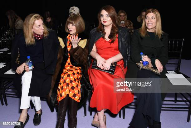 Tonne Goodman Anna Wintour Samantha Barry and Virginia Smith attend the Altuzarra Runway Show during New York Fashion Week at Spring Studios on...
