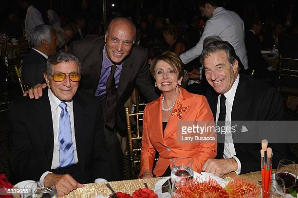 Tonny Bennett Danny Bennett Nancy Pelosi and Paul Pelosi attend the 6Th Annual Exploring the Arts Gala hosted by Tony Bennett And Susan Benedetto at...
